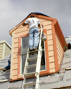 Man, house painting, Austin painting company